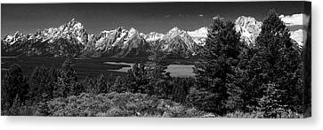 Canvas Print featuring the photograph Grand Tetons by Dan Wells