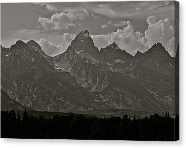 Canvas Print featuring the photograph Grand Tetons by Eric Tressler