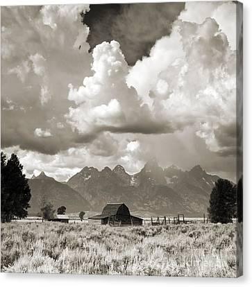 Grand Tetons Jackson Barn Canvas Print by Dustin K Ryan