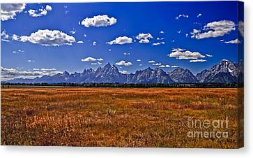 Grand Tetons  Mountains Canvas Print by Robert Bales