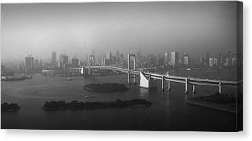 Grand View Of Tokyo Canvas Print by Naxart Studio