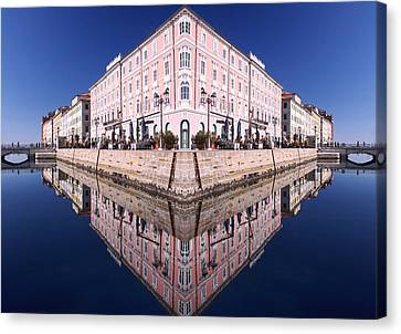 Grande Canal Trieste Canvas Print by Graham Hawcroft pixsellpix