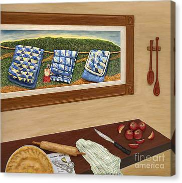 Grandma's Apple Pie Canvas Print by Anne Klar