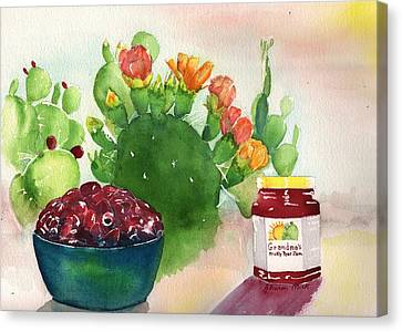 Grandmas Prickly Pear Jam Canvas Print by Sharon Mick