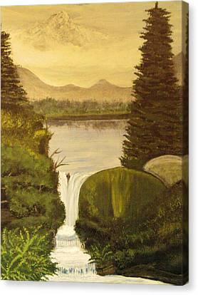 Grandpa Mountain Canvas Print by Mitzi Foreman