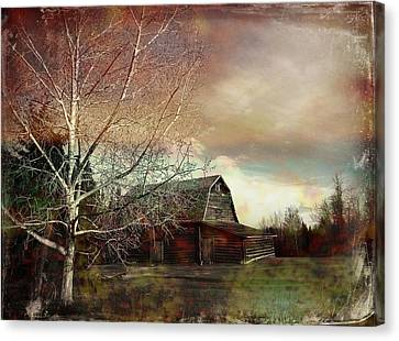 Grandpa's Barn Canvas Print by Shirley Sirois