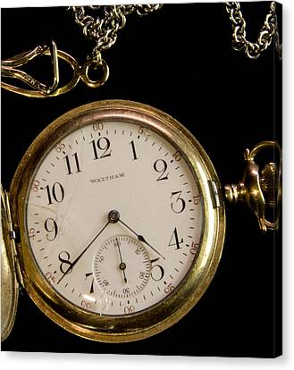 Canvas Print featuring the photograph Grandpa's Watch I by Michael Friedman