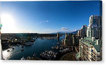 Canvas Print featuring the photograph Grandville Island In Yaletown Bc by JM Photography
