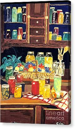 Granny's Cupboard Canvas Print by Julie Brugh Riffey