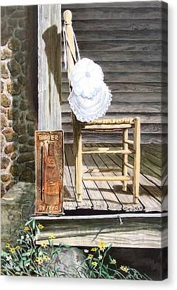 Granny's Naptime  Sold Canvas Print