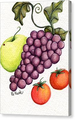 Grape Salad Canvas Print by Paula Greenlee