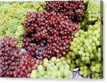Concord Grapes Canvas Print - Grapes At A Market Stall by Jeremy Woodhouse
