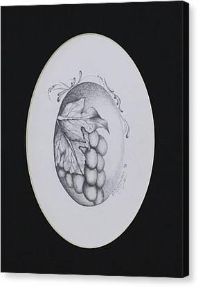 Grapes Canvas Print by Kim Stewart