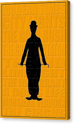Graphic Chaplin Canvas Print by Andrew Fare
