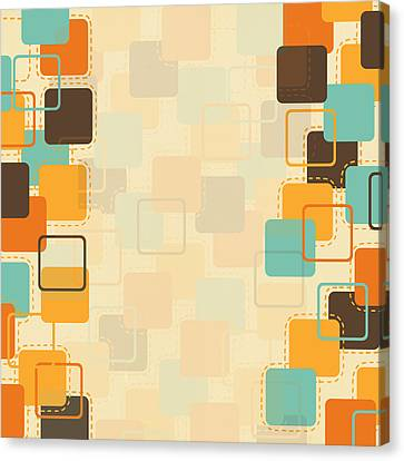 Graphic Square Pattern Canvas Print by Setsiri Silapasuwanchai