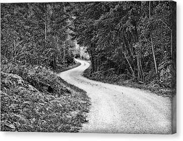 Canvas Print featuring the photograph Gravel Road by Thomas Born