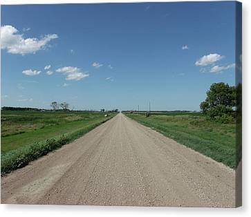Gravel Road To Nowhere Canvas Print by Brian  Maloney