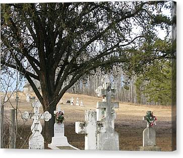 Canvas Print featuring the photograph Graveyard by Brian Sereda