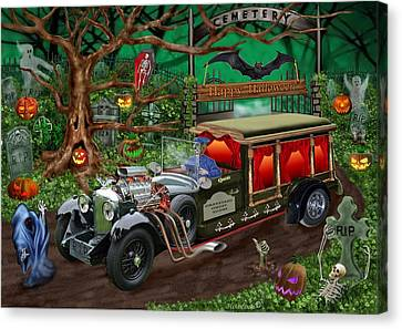 Graveyard Ghost Tours Canvas Print by Glenn Holbrook