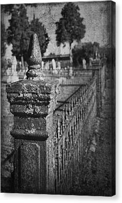 Graveyard Grunge In Black And White Canvas Print