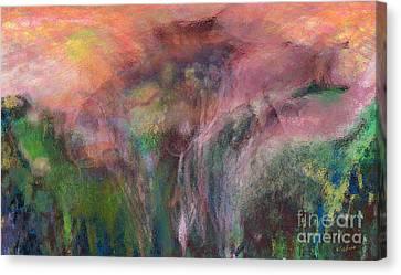 Grazing Horse Canvas Print by David Klaboe
