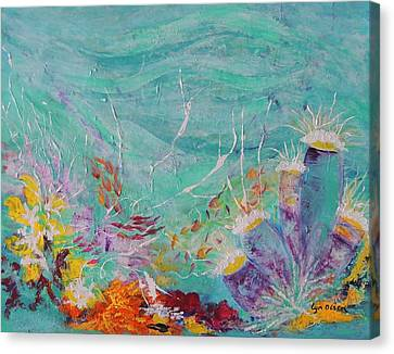 Great Barrier Reef Life Canvas Print by Lyn Olsen