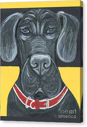 Great Dane Poster Canvas Print by Ania M Milo