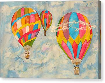 Canvas Print featuring the painting Great Day To Fly by Joy Braverman