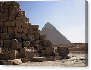 Great Pyramids Khafre Canvas Print by Darcy Michaelchuk