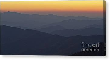 Great Smokie Mountains At Sunset Canvas Print by Dustin K Ryan
