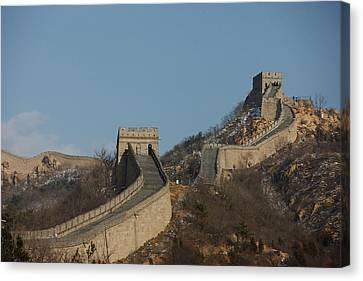 Great Wall Of China In Badaling China Canvas Print by Everett