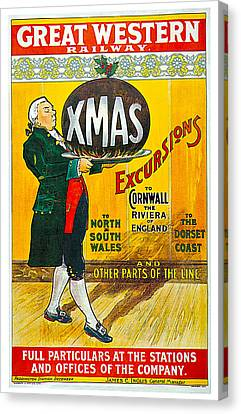 Great Western Railway Xmas Excursions Canvas Print by George Conning