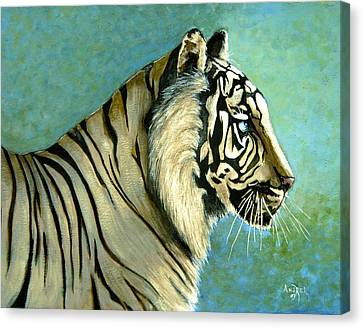 great White Hunter Canvas Print by Andrea Camp