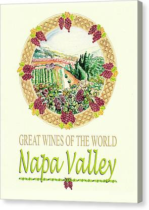 Great Wines Of The World -napa Valley Canvas Print by John Keaton