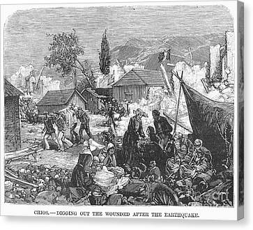 Greece: Earthquake, 1880 Canvas Print by Granger