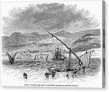Greece: Salonika, 1876 Canvas Print by Granger