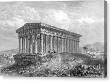 Greece: Temple Ruins Canvas Print by Granger