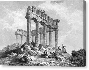 Greece: The Parthenon 1833 Canvas Print by Granger