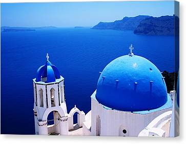 Greek Blue Canvas Print by Paul Cowan