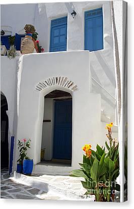 Greek Doorway Canvas Print