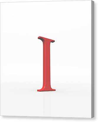 Greek Letter Iota, Upper Case Canvas Print by David Parker