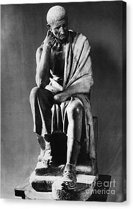 Greek Philosopher Canvas Print by Photo Researchers