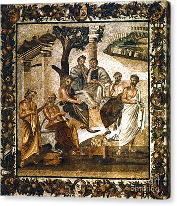 Platonic Canvas Print - Greek Philosophers by Granger