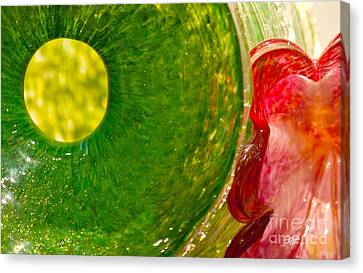 Green And Red Canvas Print by Artist and Photographer Laura Wrede