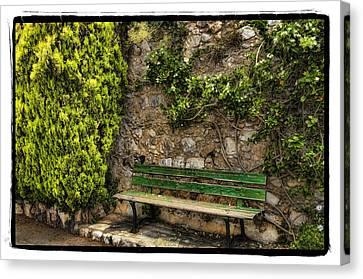 Green Bench Canvas Print by Mauro Celotti