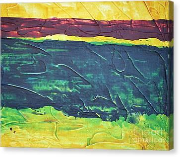 Green Canyon Canvas Print by Barbara Tibbets