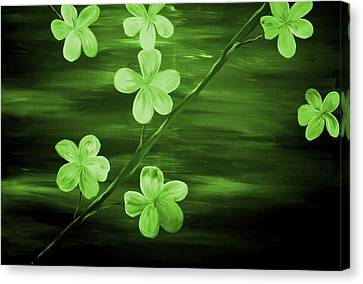 Green Cherry Blossom Canvas Print by Mark Moore