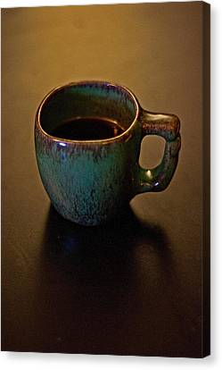 Canvas Print featuring the photograph Green Cup Of Coffee by Randall  Cogle