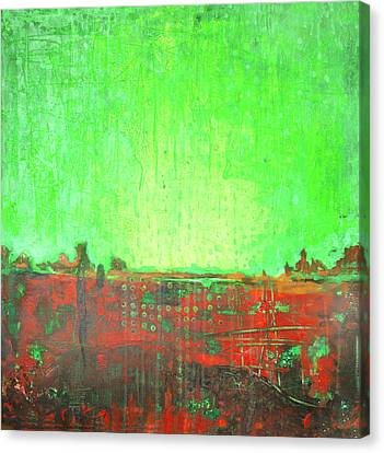 Canvas Print featuring the painting Green Day by Lolita Bronzini