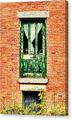 Green Door Canvas Print by HD Connelly